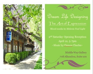 dream life designing art exhibit April 2014